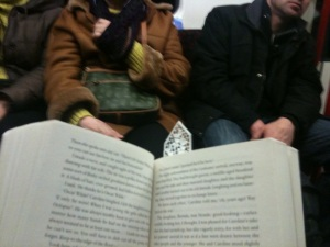 Absorbed by The Little Stranger by Sarah Waters on the daily commute