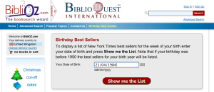 Biblioz Birthday Books Widget