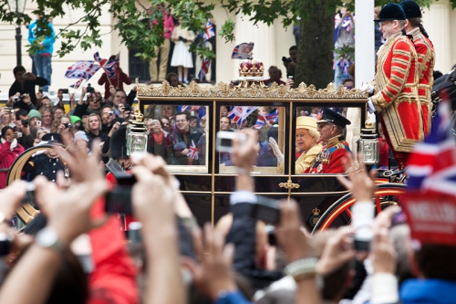The Queen and Prince Philip at the Royal Wedding