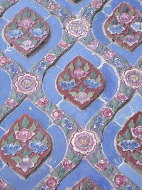 Mosaic tiles at The Grand Palace, Bangkok