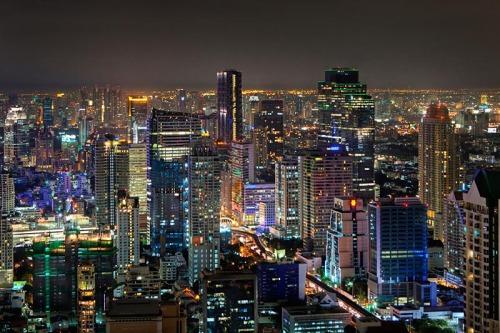 Bangkok at night - view from Vertigo Bar, Banyan Tree
