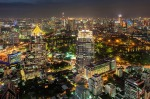 Bangkok at night - view from Vertigo Bar, Banyan Tree