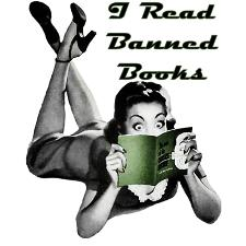 I Read Banned Books Woman Reading Image