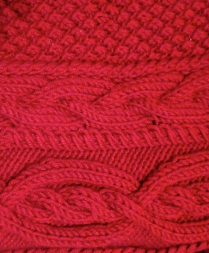 Cable knit up close