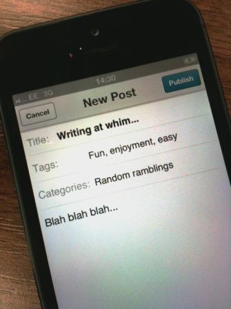Writing at whim
